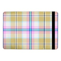 Pink And Yellow Plaid Samsung Galaxy Tab Pro 10 1  Flip Case by allthingseveryone