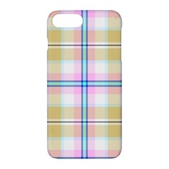 Pink And Yellow Plaid Apple Iphone 7 Plus Hardshell Case by allthingseveryone