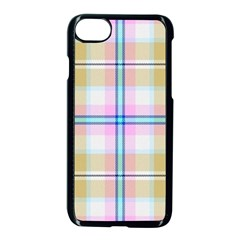Pink And Yellow Plaid Apple Iphone 8 Seamless Case (black) by allthingseveryone