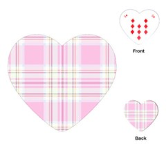 Pink Pastel Plaid Playing Cards (heart)