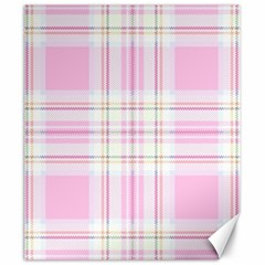Pink Pastel Plaid Canvas 20  X 24   by allthingseveryone
