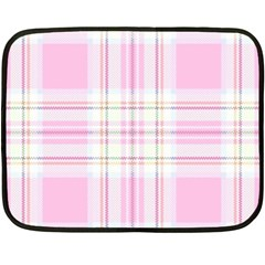 Pink Pastel Plaid Double Sided Fleece Blanket (mini)