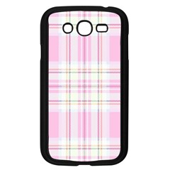 Pink Pastel Plaid Samsung Galaxy Grand Duos I9082 Case (black) by allthingseveryone