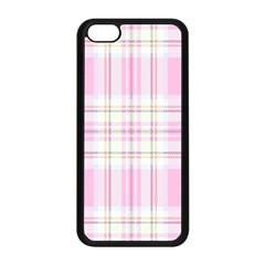 Pink Pastel Plaid Apple Iphone 5c Seamless Case (black) by allthingseveryone