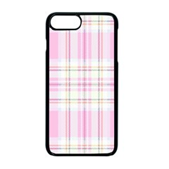 Pink Pastel Plaid Apple Iphone 7 Plus Seamless Case (black) by allthingseveryone