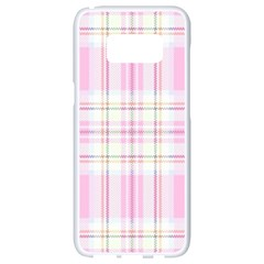Pink Pastel Plaid Samsung Galaxy S8 White Seamless Case