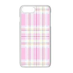 Pink Pastel Plaid Apple Iphone 8 Plus Seamless Case (white)