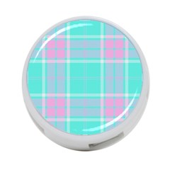 Blue And Pink Pastel Plaid 4 Port Usb Hub (two Sides)  by allthingseveryone