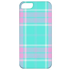 Blue And Pink Pastel Plaid Apple Iphone 5 Classic Hardshell Case by allthingseveryone