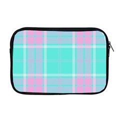 Blue And Pink Pastel Plaid Apple Macbook Pro 17  Zipper Case by allthingseveryone