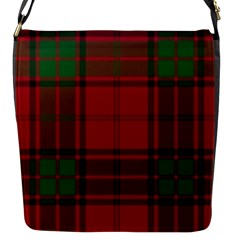 Red And Green Tartan Plaid Flap Messenger Bag (s) by allthingseveryone