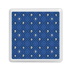 Funny Little Skull Pattern, Blue Memory Card Reader (square)  by MoreColorsinLife