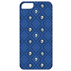 Funny Little Skull Pattern, Blue Apple Iphone 5 Classic Hardshell Case by MoreColorsinLife