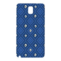 Funny Little Skull Pattern, Blue Samsung Galaxy Note 3 N9005 Hardshell Back Case by MoreColorsinLife