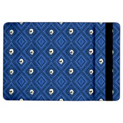 Funny Little Skull Pattern, Blue Ipad Air 2 Flip by MoreColorsinLife