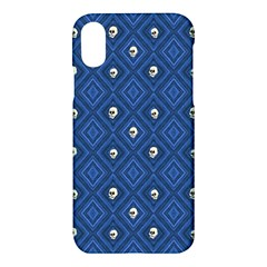 Funny Little Skull Pattern, Blue Apple Iphone X Hardshell Case