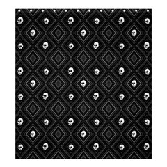 Funny Little Skull Pattern, B&w Shower Curtain 66  X 72  (large)  by MoreColorsinLife