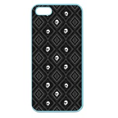Funny Little Skull Pattern, B&w Apple Seamless Iphone 5 Case (color) by MoreColorsinLife