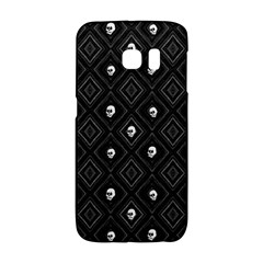 Funny Little Skull Pattern, B&w Galaxy S6 Edge by MoreColorsinLife