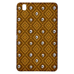 Funny Little Skull Pattern, Golden Samsung Galaxy Tab Pro 8 4 Hardshell Case by MoreColorsinLife