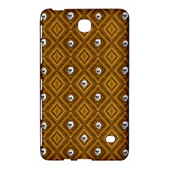 Funny Little Skull Pattern, Golden Samsung Galaxy Tab 4 (8 ) Hardshell Case  by MoreColorsinLife