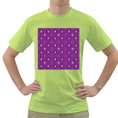 Funny Little Skull Pattern, Purple Green T Shirt by MoreColorsinLife