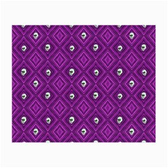 Funny Little Skull Pattern, Purple Small Glasses Cloth (2 Side) by MoreColorsinLife