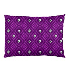 Funny Little Skull Pattern, Purple Pillow Case by MoreColorsinLife