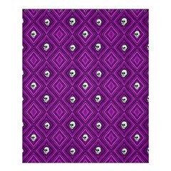 Funny Little Skull Pattern, Purple Shower Curtain 60  X 72  (medium)  by MoreColorsinLife