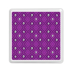Funny Little Skull Pattern, Purple Memory Card Reader (square)  by MoreColorsinLife