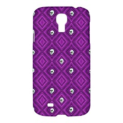 Funny Little Skull Pattern, Purple Samsung Galaxy S4 I9500/i9505 Hardshell Case by MoreColorsinLife