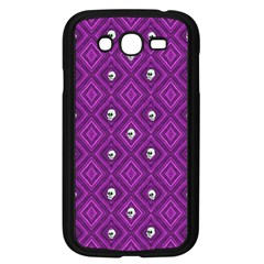 Funny Little Skull Pattern, Purple Samsung Galaxy Grand Duos I9082 Case (black) by MoreColorsinLife