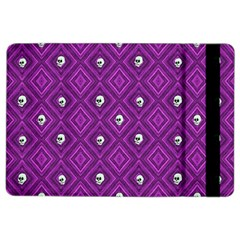 Funny Little Skull Pattern, Purple Ipad Air 2 Flip by MoreColorsinLife