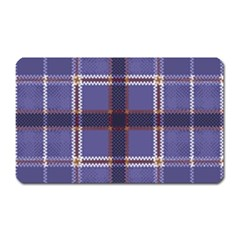 Purple Heather Plaid Magnet (rectangular) by allthingseveryone