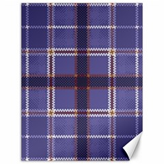 Purple Heather Plaid Canvas 12  X 16   by allthingseveryone