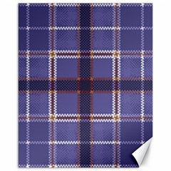 Purple Heather Plaid Canvas 16  X 20   by allthingseveryone