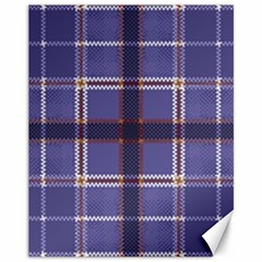 Purple Heather Plaid Canvas 11  X 14