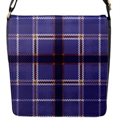 Purple Heather Plaid Flap Messenger Bag (s) by allthingseveryone