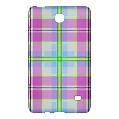 Pink And Blue Plaid Samsung Galaxy Tab 4 (7 ) Hardshell Case  by allthingseveryone