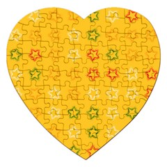 Spray Stars Pattern B Jigsaw Puzzle (heart) by MoreColorsinLife