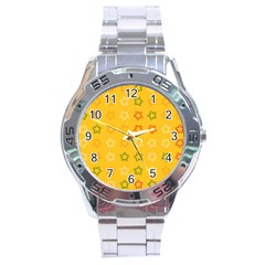 Spray Stars Pattern B Stainless Steel Analogue Watch by MoreColorsinLife