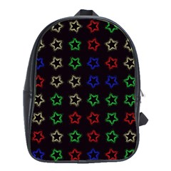 Spray Stars Pattern A School Bag (large) by MoreColorsinLife