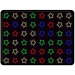 Spray Stars Pattern A Fleece Blanket (Large)  80 x60  Blanket Front