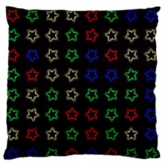 Spray Stars Pattern A Large Flano Cushion Case (two Sides) by MoreColorsinLife
