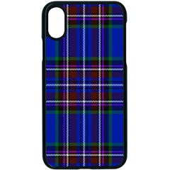 Bright Blue Plaid Apple Iphone X Seamless Case (black)