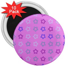 Spray Stars Pattern C 3  Magnets (10 Pack)  by MoreColorsinLife