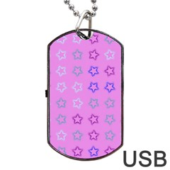 Spray Stars Pattern C Dog Tag Usb Flash (one Side) by MoreColorsinLife