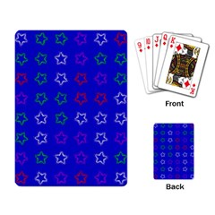 Spray Stars Pattern E Playing Card by MoreColorsinLife
