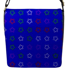 Spray Stars Pattern E Flap Messenger Bag (s) by MoreColorsinLife