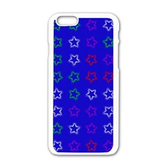 Spray Stars Pattern E Apple Iphone 6/6s White Enamel Case by MoreColorsinLife